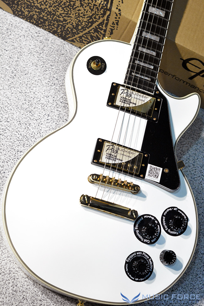 Epiphone Les Paul Custom Pro-Alpine White w/Gold Hardware(신품)